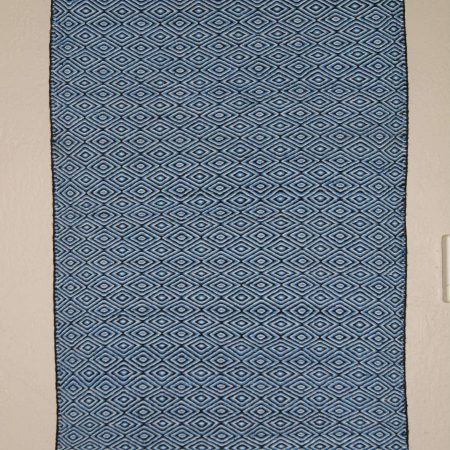 Navajo Rugs for Sale Company Blue Diamond Twill Navajo Rug Weaving for Sale NRFSC0791 Image 001