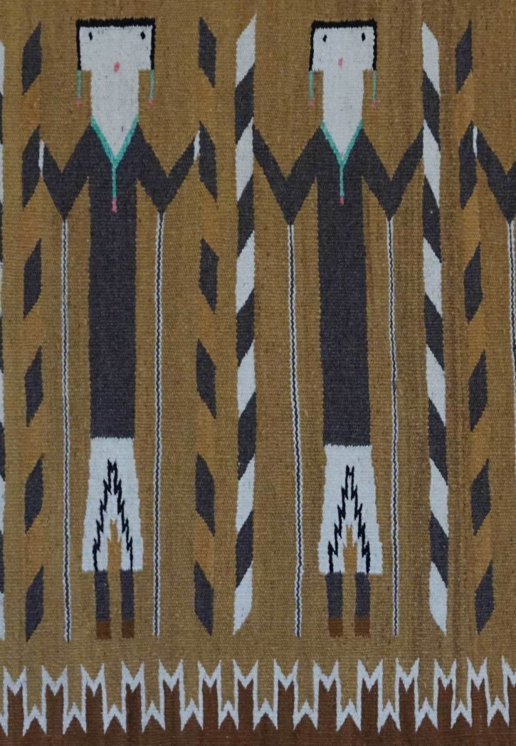 Navajo Rugs for Sale Company Yei Navajo Rug Weaving for Sale Circa 1960 NRFSC0071 Image 002