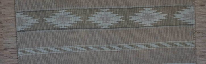 Navajo Rugs for Sale Company Antique Banded Chinle Revival Navajo Blanket with Bands of Chevrons and Chinle Stars Navajo Rug Weaving Circa 1930 for Sale NRFSC0720 Image 002
