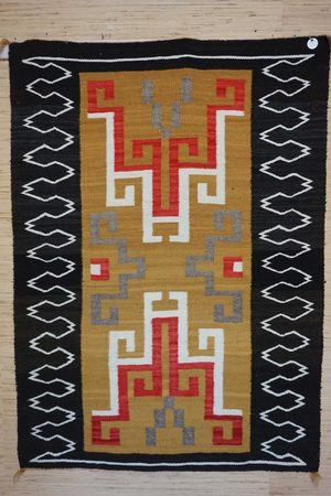 Navajo Rugs for Sale Company Antique Crystal Storm Pattern Varient Navajo Rug Weaving Circa 1940 for Sale NRFSC0578 Image 001