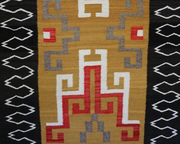Navajo Rugs for Sale Company Antique Crystal Storm Pattern Varient Navajo Rug Weaving Circa 1940 for Sale NRFSC0578 Image 002