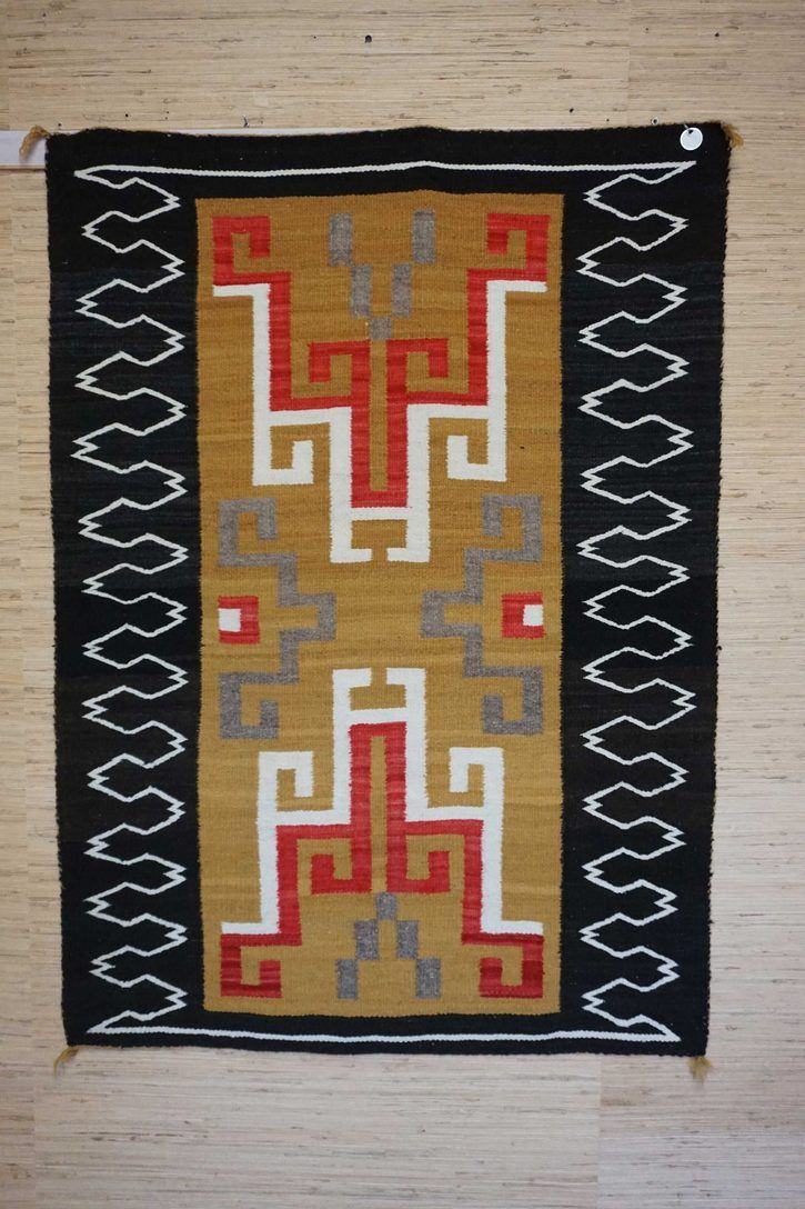 Navajo Rugs for Sale Company Antique Crystal Storm Pattern Varient Navajo Rug Weaving Circa 1940 for Sale NRFSC0578 Image 003