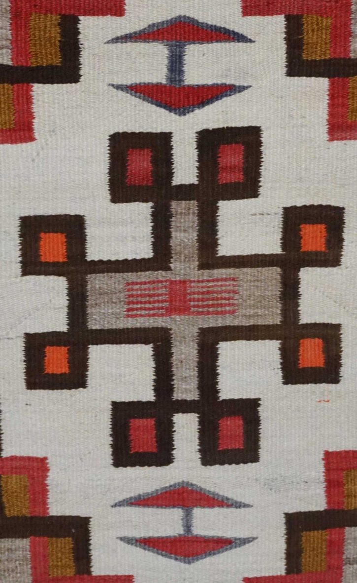 Navajo Rugs for Sale Company Antique Double Diamond House Pictorial Navajo Rug Weaving Circa 1915 for Sale NRFSC0882 Image 004
