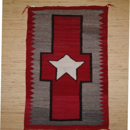 Navajo Rugs for Sale Company Antique Great Star in Cross Different Star in Center of Cross Navajo Rug Weaving Circa 1920 for Sale NRFSC0633 Image 001