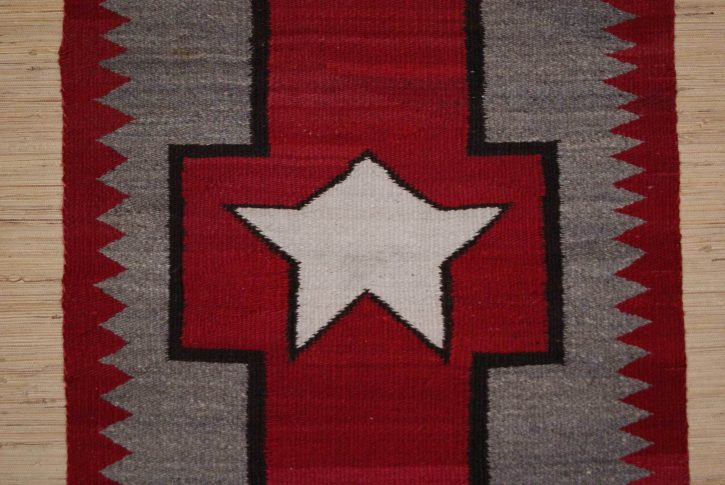 Navajo Rugs for Sale Company Antique Great Star in Cross Different Star in Center of Cross Navajo Rug Weaving Circa 1920 for Sale NRFSC0633 Image 003