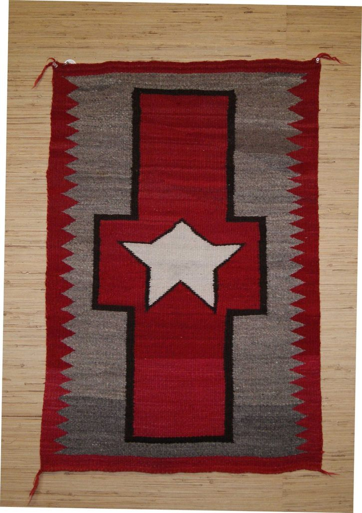 Navajo Rugs for Sale Company Antique Great Star in Cross Different Star in Center of Cross Navajo Rug Weaving Circa 1920 for Sale NRFSC0633 Image 005