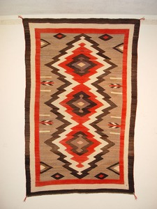 Navajo Rugs for Sale Company Antique JB Moore Crystal Variant of Plate III 1903 Navajo Rug Weaving Circa 1900 for Sale NRFSC0239 Image 001