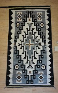 Navajo Rugs for Sale Company Antique Large Diamond JB Moore Crystal Trading Post Navajo Rug Weaving Circa 1930 for Sale NRFSC0860 Image 001