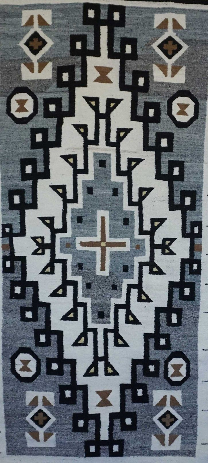 Navajo Rugs for Sale Company Antique Large Diamond JB Moore Crystal Trading Post Navajo Rug Weaving Circa 1930 for Sale NRFSC0860 Image 002
