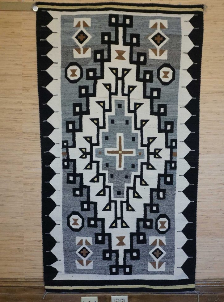 Navajo Rugs for Sale Company Antique Large Diamond JB Moore Crystal Trading Post Navajo Rug Weaving Circa 1930 for Sale NRFSC0860 Image 003