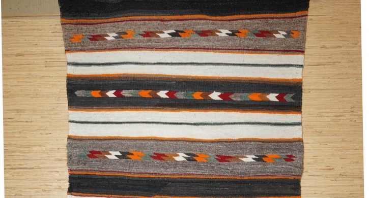 Navajo Rugs for Sale Company Antique Red Mesa Banded Double Saddle Blanket Navajo Rug Weaving Circa 1915 to 1925 for Sale NRFSC0805 Image 003
