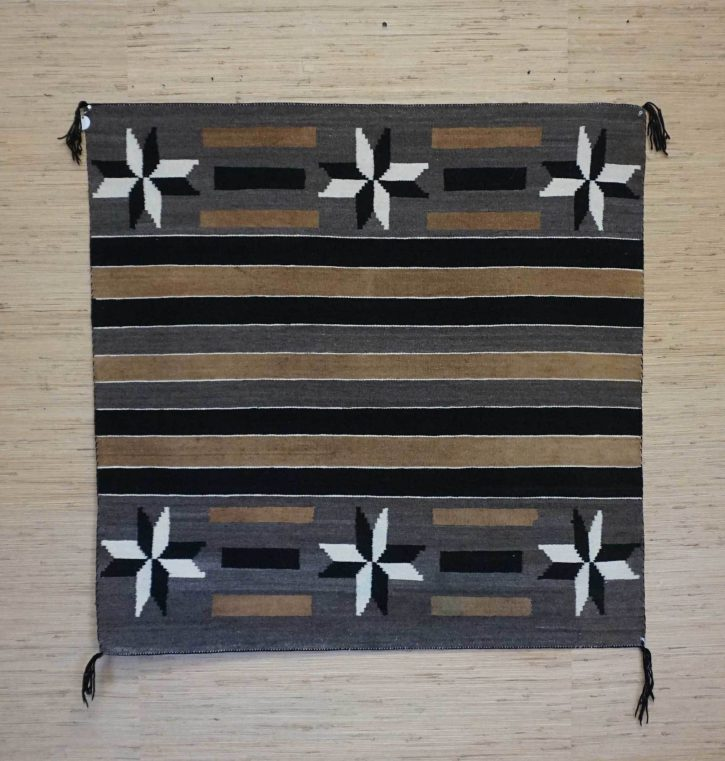 Navajo Rugs for Sale Company Antique Six Valero Stars Natural Color Navajo Rug Weaving Circa 1930 for Sale NRFSC0747 Image 001