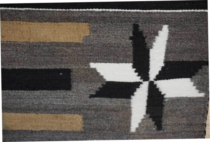 Navajo Rugs for Sale Company Antique Six Valero Stars Natural Color Navajo Rug Weaving Circa 1930 for Sale NRFSC0747 Image 003