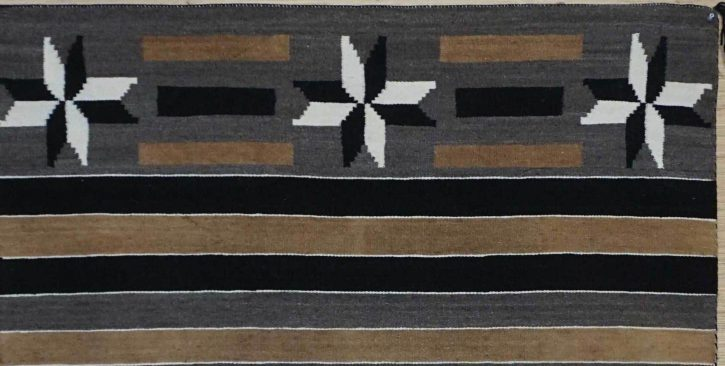 Navajo Rugs for Sale Company Antique Six Valero Stars Natural Color Navajo Rug Weaving Circa 1930 for Sale NRFSC0747 Image 004
