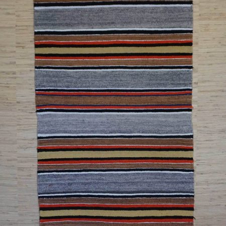Navajo Rugs for Sale Company Modern Banded Double Saddle Blanket Navajo Rug Weaving Circa 1980 for Sale NRFSC0963 Image 001