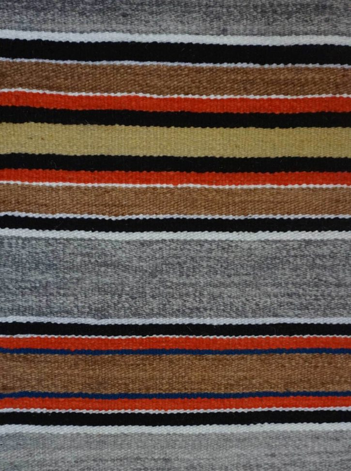Navajo Rugs for Sale Company Modern Banded Double Saddle Blanket Navajo Rug Weaving Circa 1980 for Sale NRFSC0963 Image 003