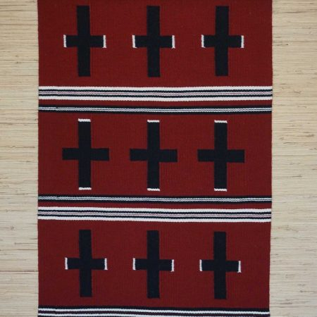 Navajo Rugs for Sale Company Modern Ganado Hubble Revival Navajo Rug Weaving Circa 2010 for Sale NRFSC0884 Image 001
