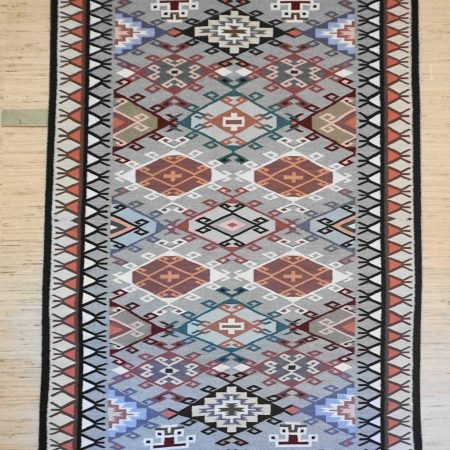 Navajo Rugs for Sale Company Modern Rose Yazzie Old Style Crystal Navajo Rug Weaving Circa 1990 for Sale NRFSC0382A Image 001