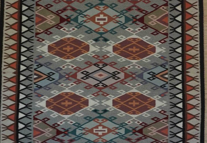 Navajo Rugs for Sale Company Modern Rose Yazzie Old Style Crystal Navajo Rug Weaving Circa 1990 for Sale NRFSC0382A Image 002