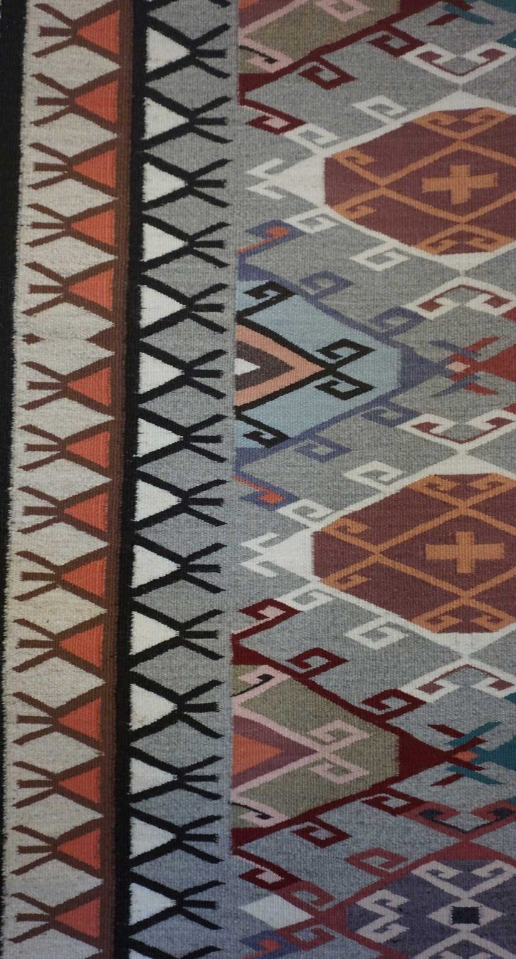 Navajo Rugs for Sale Company Modern Rose Yazzie Old Style Crystal Navajo Rug Weaving Circa 1990 for Sale NRFSC0382A Image 003